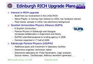Edinburgh RICH Upgrade Plans