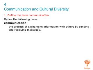 1. Define the term  communication