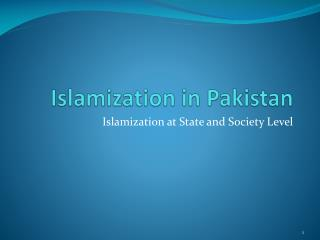 Islamization  in Pakistan