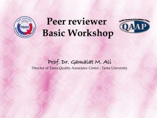 Peer reviewer Basic Workshop