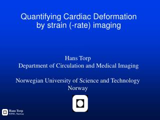 Quantifying Cardiac Deformation  by strain (-rate) imaging