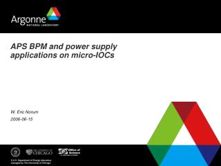 APS BPM and power supply applications on micro-IOCs