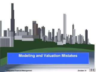 Modeling and Valuation Mistakes