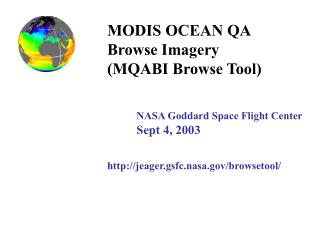 MODIS OCEAN QA Browse Imagery  (MQABI Browse Tool)