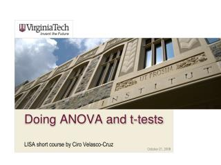 Doing ANOVA and t-tests
