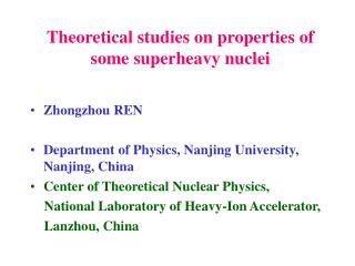 Theoretical studies on properties of some superheavy nuclei