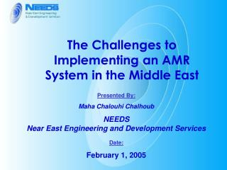 The Challenges to Implementing an AMR System in the Middle East