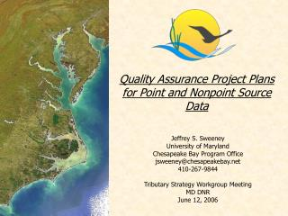 Quality Assurance Project Plans for Point and Nonpoint Source Data