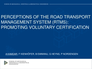 ROAD DOCUMENTATION MANAGEMENT IN SA