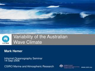 Variability of the Australian Wave Climate