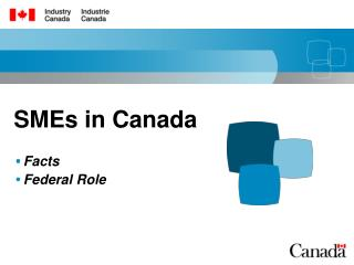 SMEs in Canada Facts Federal Role