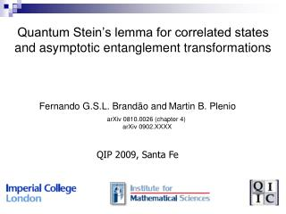 Quantum Stein's lemma for correlated states and asymptotic entanglement transformations