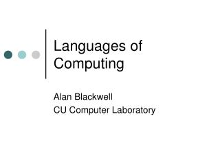 Languages of Computing