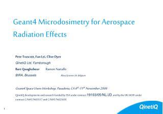 Geant4 Microdosimetry for Aerospace Radiation Effects