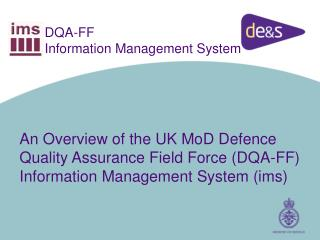 DQA-FF Information Management System