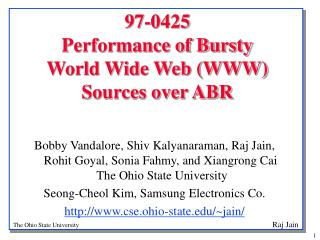 97-0425 Performance of Bursty  World Wide Web (WWW) Sources over ABR