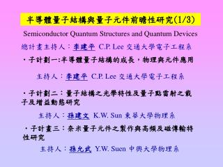 Semiconductor Quantum Structures and Quantum Devices