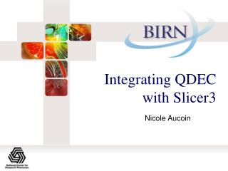 Integrating QDEC with Slicer3