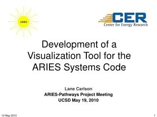 Development  of a Visualization Tool for the ARIES Systems Code