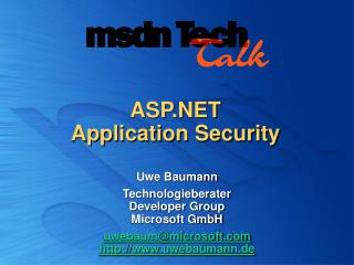 ASP.NET  Application Security