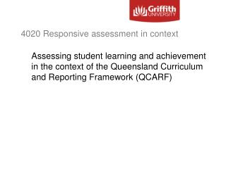 4020 Responsive assessment in context