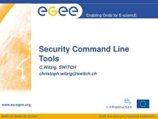 Security Command Line Tools