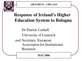 Response of Ireland's Higher Education System to Bologna