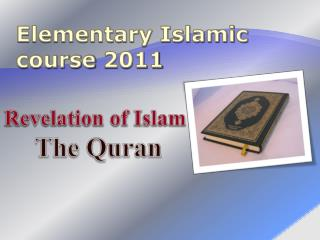 Elementary Islamic course 2011