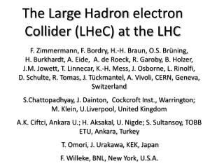 The Large  Hadron  electron Collider ( LHeC ) at the LHC