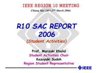 R10 SAC REPORT  2006 Student Activities