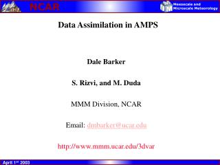 Data Assimilation in AMPS