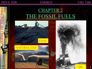 CHAPTER 2 THE FOSSIL FUELS
