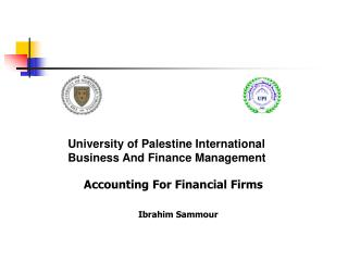 University of Palestine International Business And Finance Management