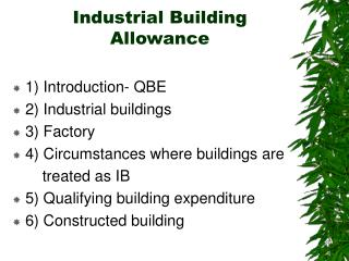 Industrial Building Allowance