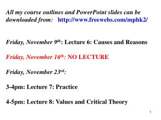 LECTURE 5:  LAWS IN THE SOCIAL SCIENCES?