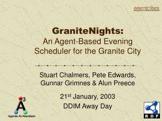 GraniteNights: An Agent-Based Evening Scheduler for the Granite City