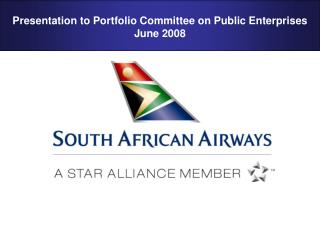 Presentation to Portfolio Committee on Public Enterprises  June 2008