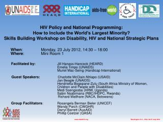 HIV Policy and National Programming: