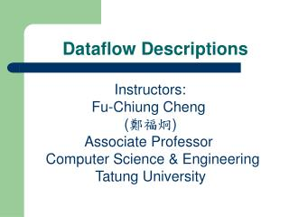 Dataflow Descriptions