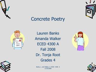Concrete Poetry