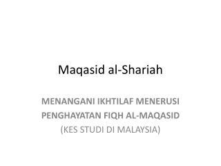 Maqasid al-Shariah