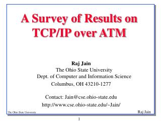 A Survey of Results on TCP/IP over ATM