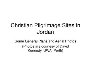 Christian Pilgrimage Sites in Jordan