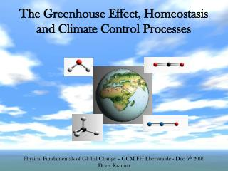 The Greenhouse Effect, Homeostasis and Climate Control Processes