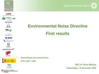 Environmental Noise Directive First results