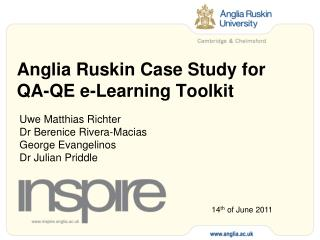Anglia Ruskin Case Study for QA-QE e-Learning Toolkit