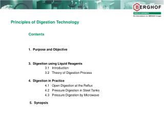 Principles of Digestion Technology