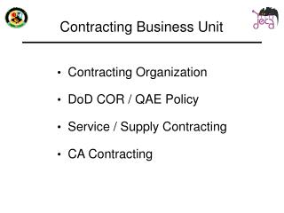 Contracting Business Unit