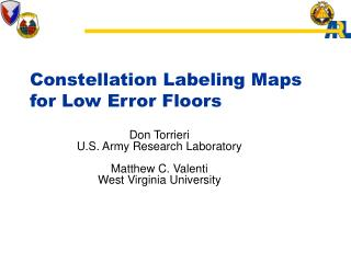 Constellation Labeling Maps for Low Error Floors
