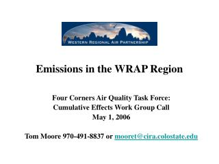 Emissions in the WRAP Region